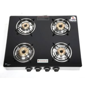 Wonderchef Zest 4 burner glass cooktop With EasyL
