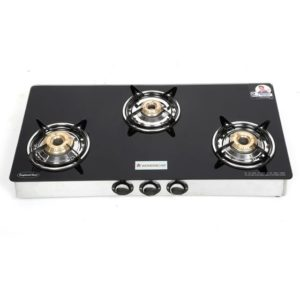 Wonderchef Zest 3 burner glass cooktop